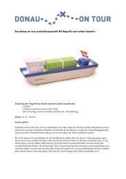 Das donau on tour Ausstellungsschiff MS Negrelli zum selber basteln
