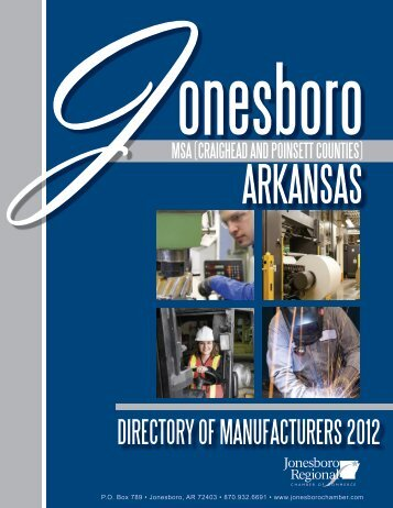 Directory of Manufacturers - Jonesboro Chamber of Commerce