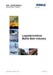 Logistikanforderungen - MAHLE Industry