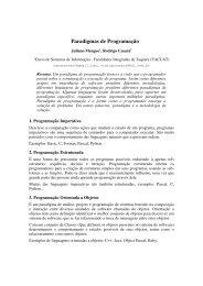 Paradigmas de Programao - Sistemas de Informação - Faccat