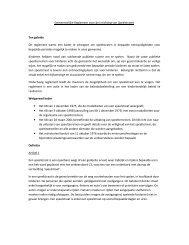 Gemeentelijke Reglement voor de inrichting van Speelstraten Ten ...