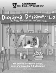 The easy-to-use tool to design, print, and assemble 3-D dioramas!