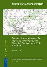 NM Sb-nr. 65, Stenkammeret. Pollenanalyse af jordprøver fra højfyld ...