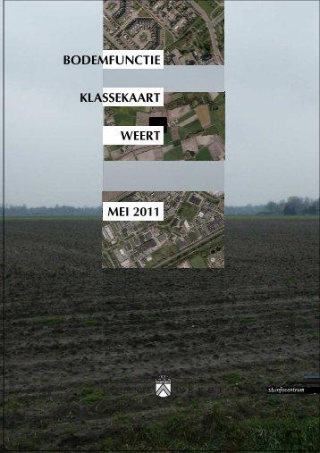 Bodemfunctieklassekaart Weert.pdf - Gemeente Weert