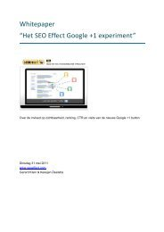 "Whitepaper ""Het SEO Effect Google +1 experiment"" - Fagro"