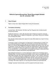Referat af mødet den 29. november 1999 - Dansk Neurologisk ...