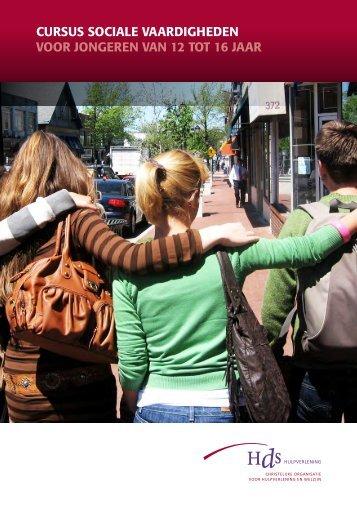 Folder Cursus Sociale Vaardigheden 12-16 jaar - HDS Hulpverlening