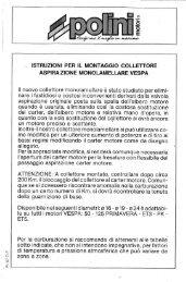 ._ ISTRUZÌONI PER IL MONTAGGIO COLLETTORE - Scooterhelp.com