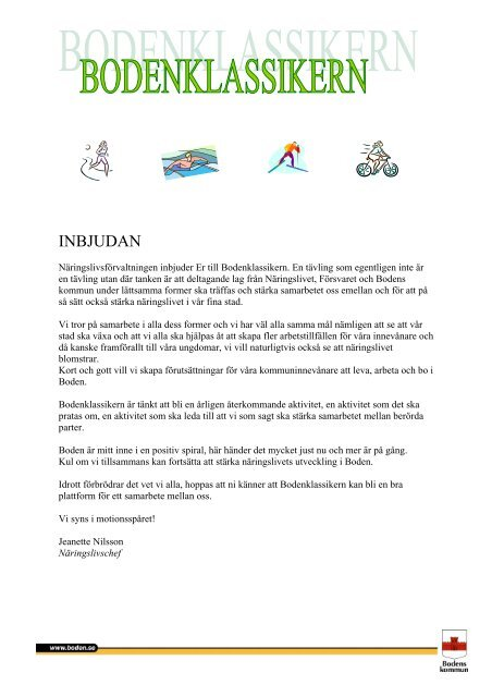 INBJUDAN - Bodens kommun