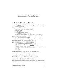 Automaten und formale Sprachen