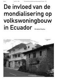 De invloed van de mondialisering op volkswoningbouw in ... - Rooilijn