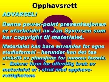 Opphavsrett - ORS
