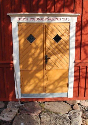 Byggnadsvårdspriset 2013 - Eksjö kommun