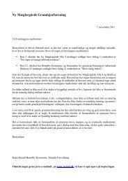 Klagebreve til medlemmer - Ny Mæglergårds Grundejerforening