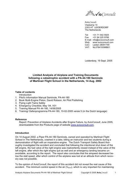 Download Analysis Piper Pa 44 Seminole Documents Avioconsult