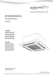 Fujitsu klimaanlæg_AUYA12-14-18-24LALN - Anderberg Klima