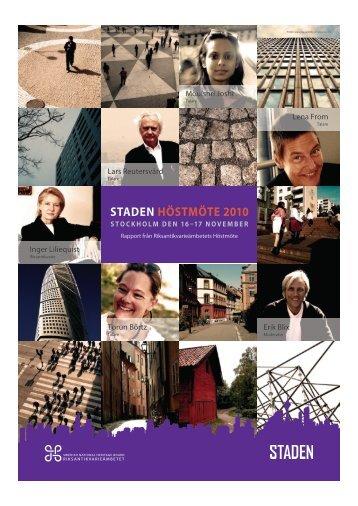STADEN HÖSTMÖTE 2010 - Arkitekturmuseet