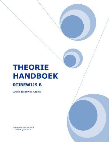 BOEK B RIJBEWIJS THEORIE PDF