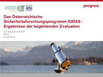 Ergebnisse der begleitenden Evaluation - KIRAS Sicherheitsforschung