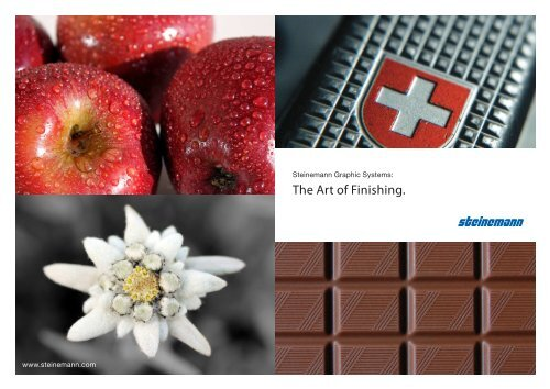The Art of Finishing. - Steinemann Technology AG