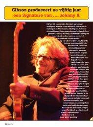Gibson produceert na vijftig jaar een Signature van .... Johnny A