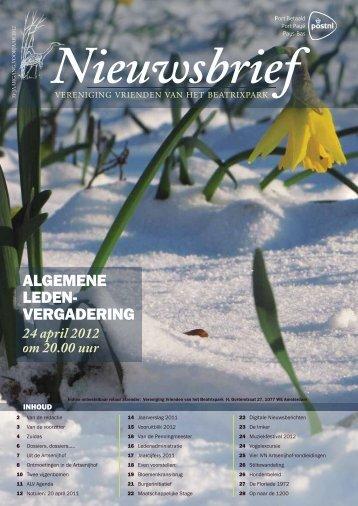 Nieuwsbrief voorjaar 2012 - Beatrixpark