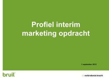 Profiel interim marketeer - Bruil