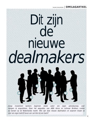 Dit zijn de nieuwe dealmakers - Holland Corporate Finance