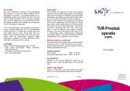 Prostaatoperatie (TURP) - SJG Weert