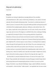 Bakgrund och epidemiologi