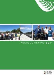 ÅRSREDOVISNING 2011 - Osby Kommun