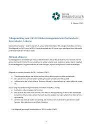 Tilbagemelding vedr. OK11 til Undervisningsministeriet fra Danske Er