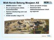 Midt-Norsk Betong Mosjøen AS - Steinar Åkvik