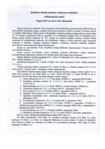 Aiškinamasis raštas - Kauno miesto savivaldybės Vinco Kudirkos ...