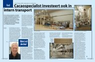 Cacaospecialist investeert ook in intern transport - Solids Processing