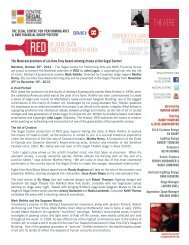 RED BY JOHN LOGAN DIRECTED BY MARTHA ... - Segal Centre