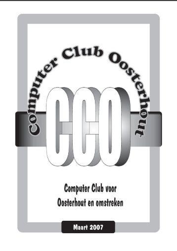 Maart - Computer Club Oosterhout