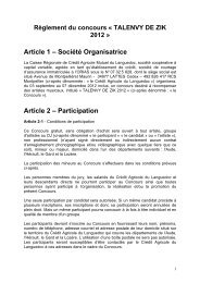 Article 1 – Société Organisatrice Article 2 – Participation