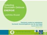 Thermisch comfort en waterbeheer - Leefmilieu Brussel