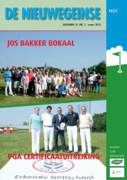 Clubblad juli 2013 - Nieuwegeinse GolfClub