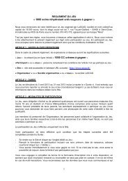 Article 1 : Société organisatrice - Mixa