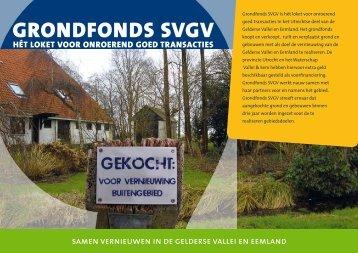 Brochure: Grondfonds SVGV - SVGV, want buiten gebeurt het!