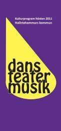 Program för musik o teater hösten 2011(pdf, 1 Mb ... - Hallstahammar