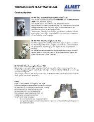 Toepassingen plaatmaterialen - Almet