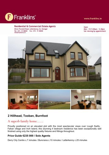 Property Brochure Template - Franklins.ie