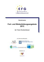 Gemeinsames Fortbildungsprogramm der Trierer Krankenhäuser