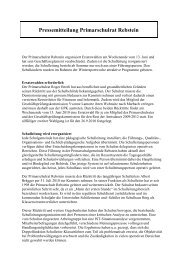 Der Primarschulrat Rebstein organisiert Ersatzwahlen am ...