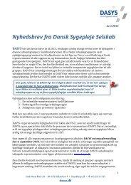 Nyhedsbrev 2013 - DaSyS