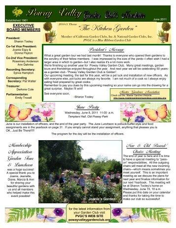 """""""The Kitchen Garden"""" - Poway Valley Garden Club"""