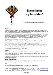 Mammen Friskole Torsdagsbrev 2010-09-09
